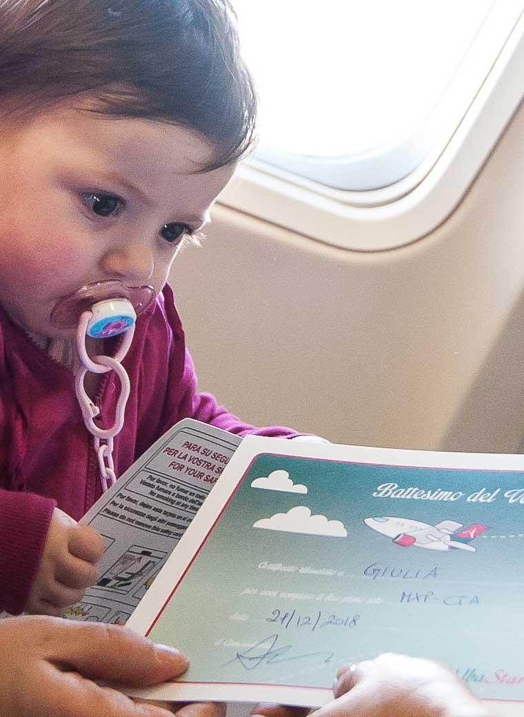 Volare con i bambini - Battesimo del volo