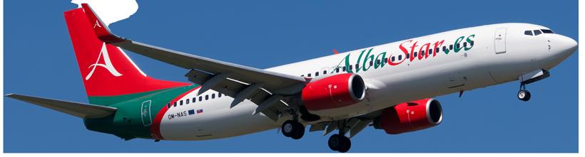 Albastar Boeing 737-800 in volo