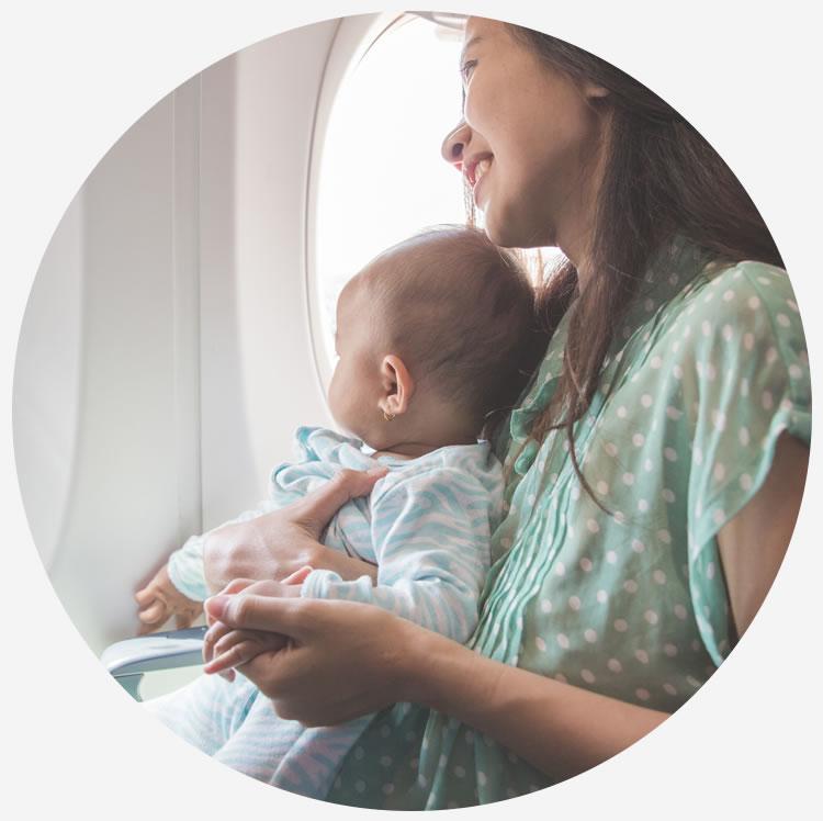 neonati a bordo dei voli Albastar