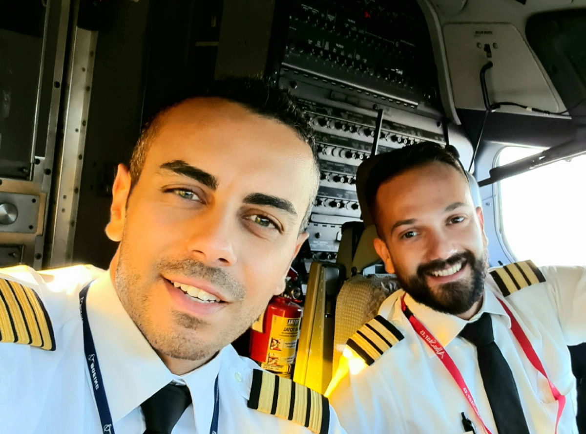 Reportage nella cabina di pilotaggio