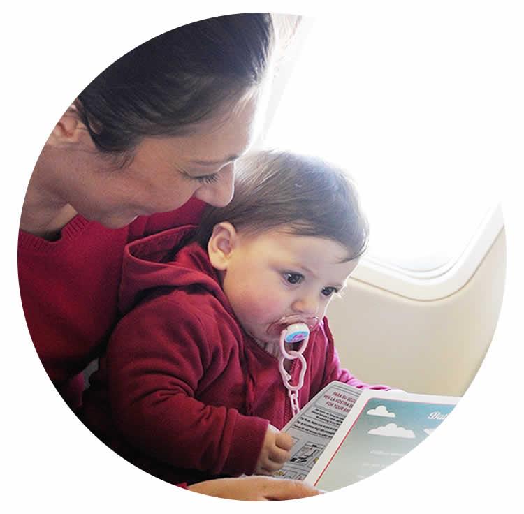 volare in famiglia volare con bambini
